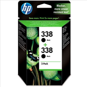HP 338 Negro Pack (x2) Original