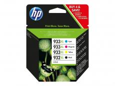HP 932XL + 933XL | MULTIPACK original 4 cartuchos C2P42AE
